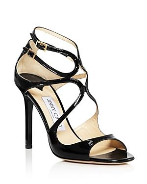 Jimmy Choo Women's Lang Patent Leather High Heel Sandals