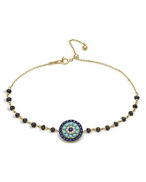Bloomingdale's Diamond, Blue Sapphire & Turquoise Bracelet In 14k Yellow Gold - 100% Exclusive