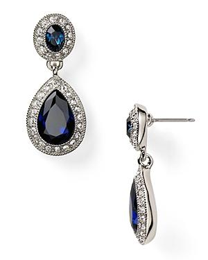 Carolee Pave Stone Double Drop Earrings
