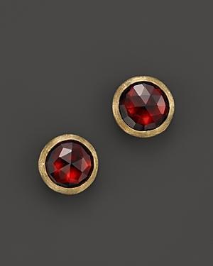 Marco Bicego Jaipur Garnet 18k Yellow Gold Stud Earrings