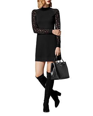 Karen Millen Embellished Leopard Sweater Dress