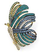 Nadri Pave Butterfly Pin