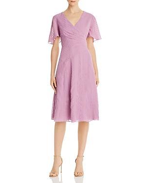 Donna Karan Textured Georgette Dress