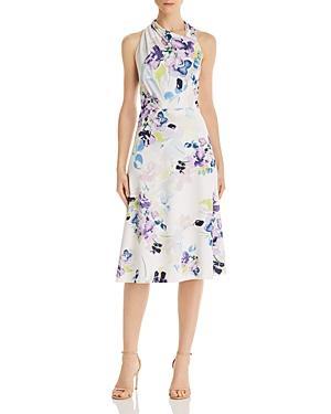 Donna Karan Floral Scuba-crepe Dress