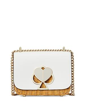 Kate Spade New York Nicola Wicker Twist-lock Small Convertible Chain Shoulder Bag