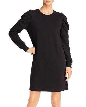 Rebecca Minkoff Janine Pleated-shoulder Sweatshirt Dress