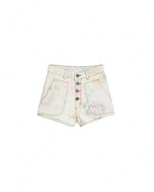 Sandro Flow Jean Shorts In Multicolor