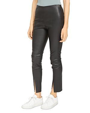 Theory Slit Leather Pants