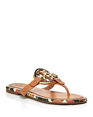 Tory Burch Women's Miller Enamel Thong Sandals