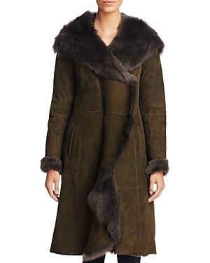 Maximilian Furs Lamb Fur Shearling Coat