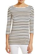 Three Dots British Striped Tee - 100% Bloomingdale's Exclusive