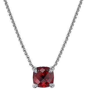 David Yurman Chatelaine Pendant Necklace With Rhodalite Garnet And Diamonds, 18