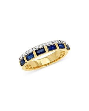 Bloomingdale's Sapphire & Diamond Band In 14k Yellow Gold - 100% Exclusive