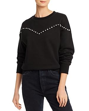 Rebecca Minkoff Kelly Simulated Pearl-embellished Sweatshirt