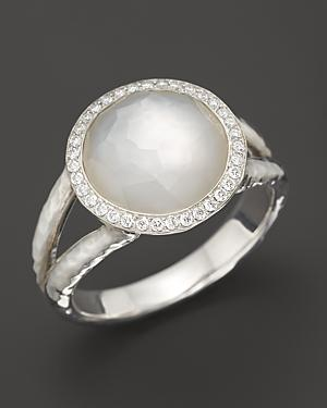 Ippolita Sterling Silver Stella Ring In Mother-of-pearl With Diamonds