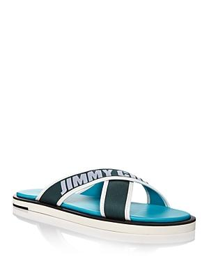 Jimmy Choo Men's Palmo Logo Cross Strap Sandals