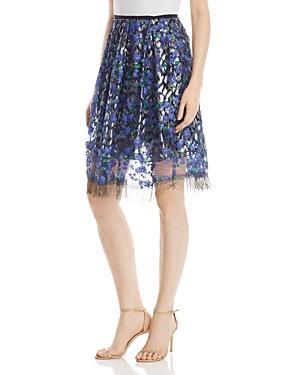 Elie Tahari Nicolette Mixed Media Skirt