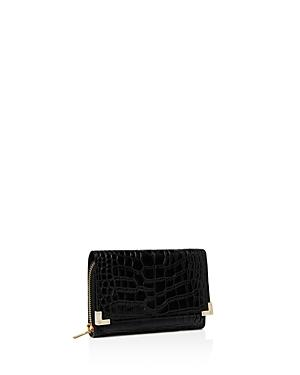 The Kooples Croc-embossed Leather Wallet
