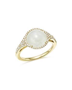 Meira T 14k Yellow Gold Rainbow Moonstone And Diamond Ring