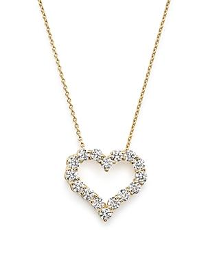 Diamond Heart Pendant Necklace In 14k Yellow Gold, .50 Ct. T.w. - 100% Exclusive