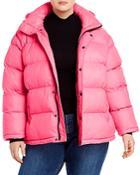 Aqua Curve Short Hooded Puffer Coat - 100% Exclusive