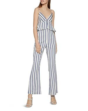 Bcbgeneration Striped Peplum Jumpsuit