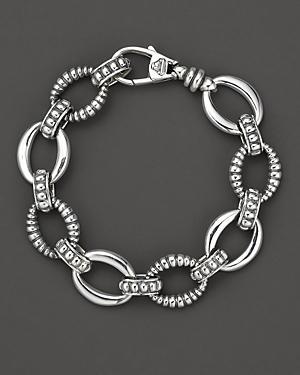 Lagos Oval Link Sterling Silver Bracelet