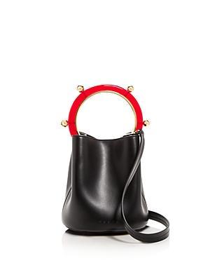 Marni Small Leather Bucket Bag