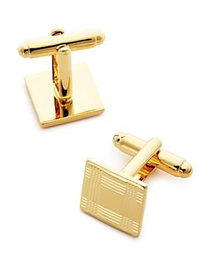 The Men's Store At Bloomingdale's Brass Check Square Cufflinks - 100% Exclusive
