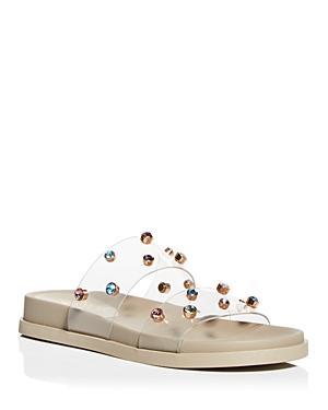 Vince Camuto Women's Partha Crystal Embellished Slide Sandals