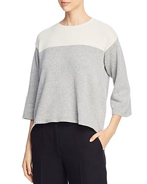 Eileen Fisher Color Block Box-top Sweater