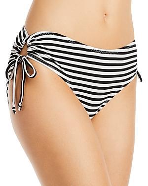 Norma Kamali Jason Striped Bikini Bottom