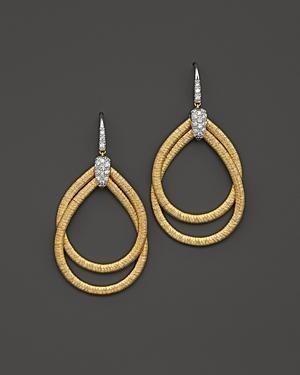 Marco Bicego 18k Yellow Gold Cairo Drop Earrings With Diamonds