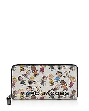 Marc Jacobs Box Peanuts Leather Continental Wallet