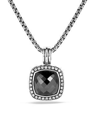 David Yurman Albion Pendant With Hematine & Diamonds
