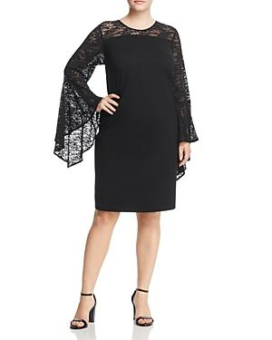Vince Camuto Plus Lace Bell Sleeve Dress