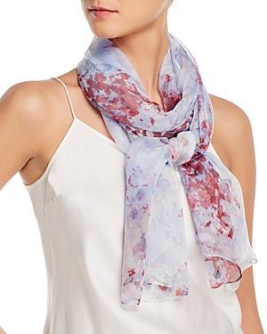 Fraas Watercolor Floral Silk Scarf