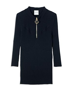 St. John Knits Fine Wool Ribbed Sweater