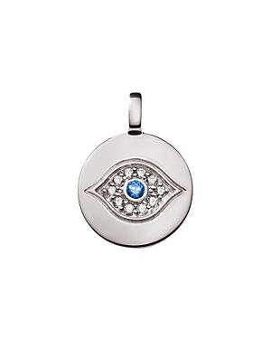 Charmbar Reversible Evil Eye Charm In Sterling Silver Or 14k Gold-plated Sterling Silver