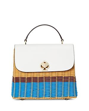 Kate Spade New York Romy Wicker Medium Top Handle Bag
