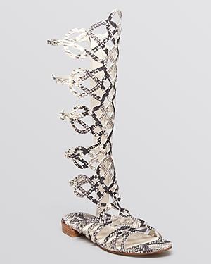 Stuart Weitzman Flat Gladiator Sandals - Aphrodite