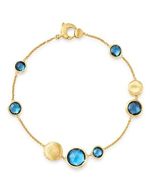 Marco Bicego 18k Yellow Gold Jaipur London Blue Topaz Bracelet