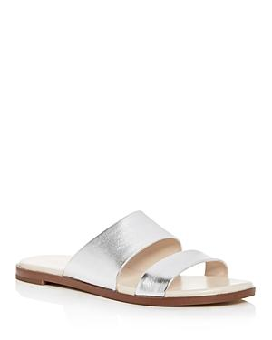 Cole Haan Women's Anica Metallic Leather Slide Sandals