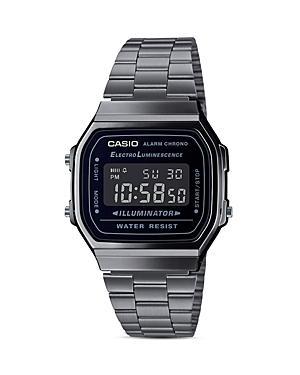 G-shock Digi Face Gunmetal Link Bracelet Watch, 36.3mm