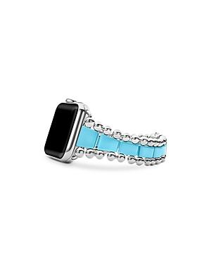 Lagos Smart Caviar Blue Ceramic Apple Watch Bracelet, 42mm