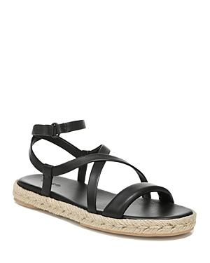Vince Women's Smith Crossover Strappy Leather Espadrille Sandals