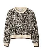 Z Supply Brushed Leopard Print Sweatshirt