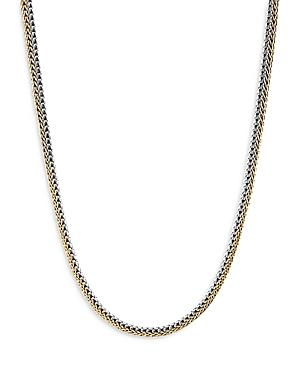 John Hardy Sterling Silver & 18k Yellow Gold Reversible Necklace, 17