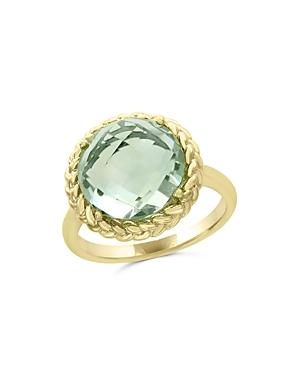Green Amethyst Statement Ring In 14k Yellow Gold - 100% Exclusive