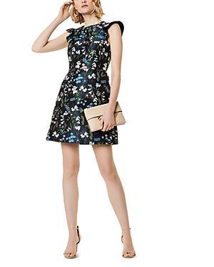 Karen Millen Floral Jacquard A-line Dress
